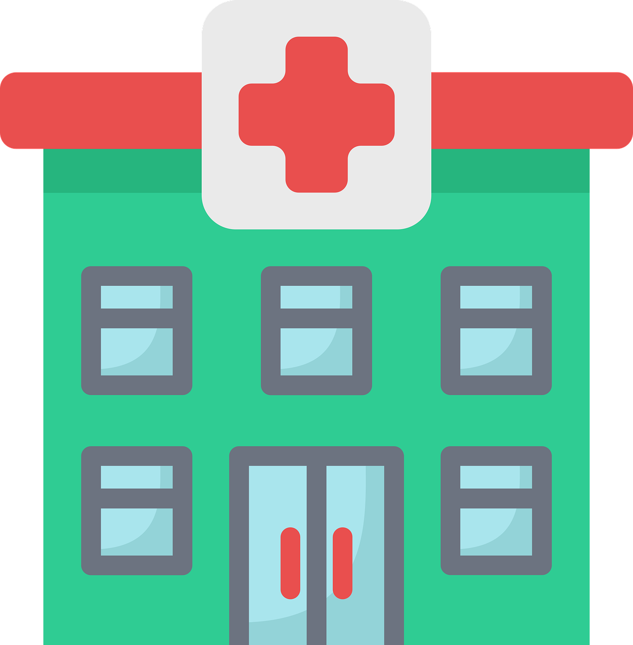 flat, medical, building